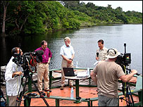BBC programme broadcasting live in the Amazon (BBC)