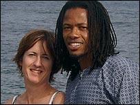 Lentswe Moretlwe (R) and Sinead Delany-Moretlwe (L)