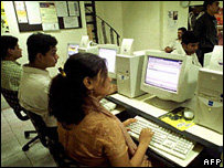 Indians working on computers