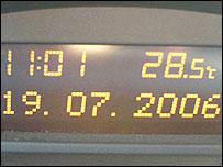 Temperature at 1100 BST