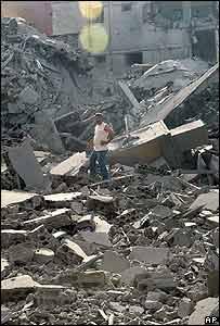 Edificios destruidos en Líbano