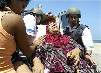 Medics treating woman in northern Israel