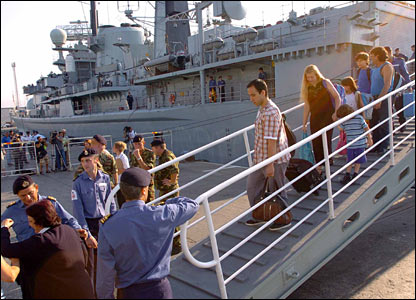 Passengers disembarking at Limassol, Cyprus