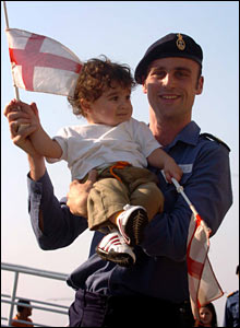 Sailor with child