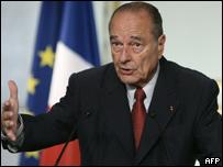 الرئيس الفرنسي جاك شيراك