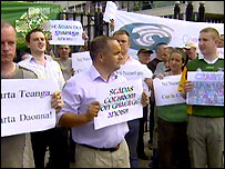 Irish language protesters