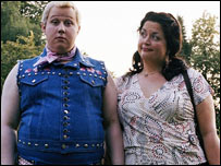 Matt Lucas as Dafydd and Ruth Jones as Myfanwy in Little Britain