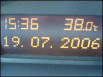 Temperature at 1536