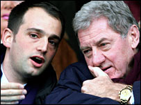 Alexandre Gaydamak (left) and Milan Mandaric