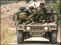 Израильская военная техника на юге Ливана