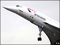British Airways Concorde, November 2001
