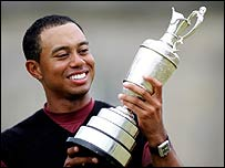 Tiger Woods after winning last year's Open