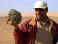 Dr Aly Barakat with desert glass in hand (TV6/BBC)