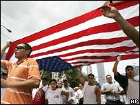 Marcha de inmigrantes en Chicago