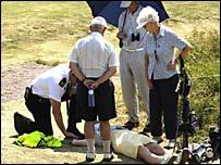 Зритель на соревнованиях по гольфу потерял сознание из-за жары
