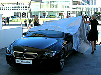 BMW M6 Convertible being unveiled at the show