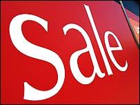 Sale sign in a shop window