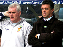 Roy Aitken (left) with former Aston Villa boss David O'Leary