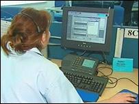 NHS 24 worker