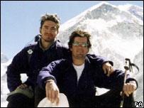Michael Matthews (left) with his friend Jamie Everett
