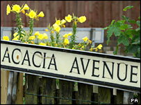 Acacia Avenue road sign