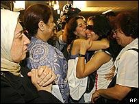 Ciudadanos brasileños llegan a Sao Paulo proveniente de Líbano