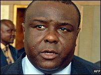 Vice-president Jean-Pierre Bemba Gombo of MLC party (Movement for the Liberation of Congo)