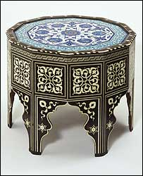 Ottoman furniture from about 1560. (pic courtesy V&A images/Victoria & Albert Museum)