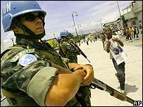 Tropas de Naciones Unidas en Haití.