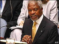 Secretario General de la ONU, Kofi Annan.