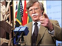 Embajador de EE.UU. ante la ONU, John Bolton.