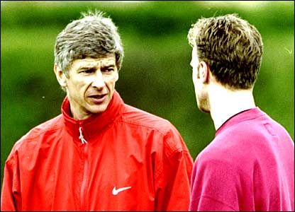 Arsene Wenger and Dennis Bergkamp plot