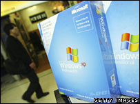 Microsoft software being sold