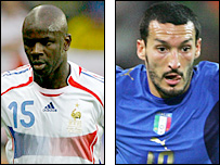 Lilian Thuram and Gianluca Zambrotta