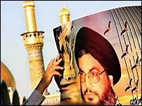 Плакат с изображением Хасана Насраллы