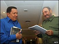 Castro ya se reunió con Chávez en Córdoba