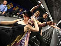 Dancers on the underground