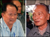 Former prime minister Khieu Samphan (top-L) and  former deputy Nuon Chea (top-R)