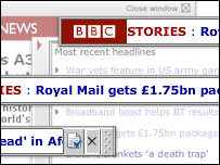 BBC desktop ticker