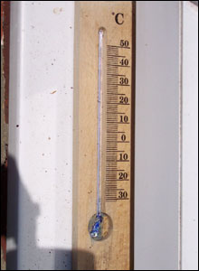 Broken thermometer