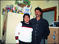 Saurab Chatterjee with his wife