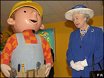 Bob the Builder meets the Queen