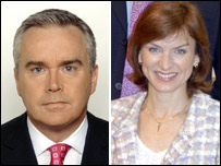 Huw Edwards and Fiona Bruce