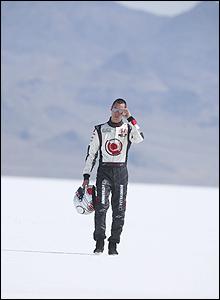 Alan van der Merwe at Bonneville Salt Flats