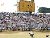 Crowds watch the Open golf