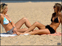 Girls on Great Yarmouth beach
