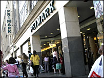 Shoppers outside Primark