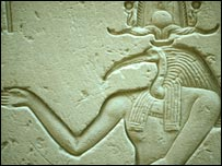 Carving from Edfu temple, Egypt, 100 BC . (Image: RSPB/Martin Davies)