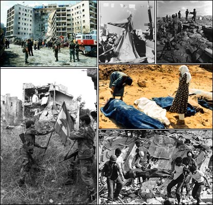 Imágenes de la guerra civil en Líbano