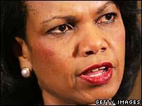 US Secretary of State Condoleezza Rice (file picture)